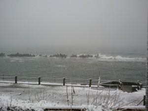 冬の日本海の写真